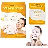 2 Pack Nu-Pore Collagen Essence Facial Tissue Masks Aloe Cucumber Skin Care 4pc