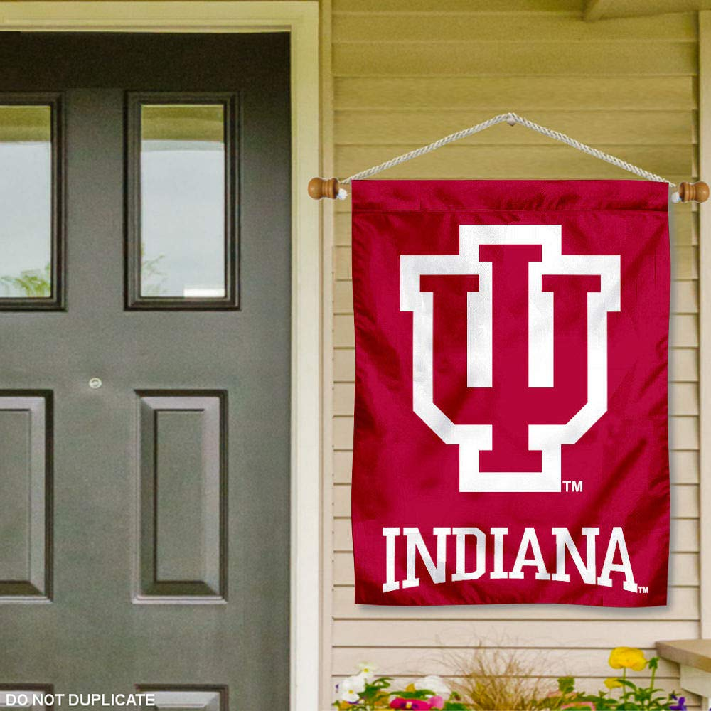 Indiana Hoosiers Banner with Hanging Pole College Flags and Banners Co