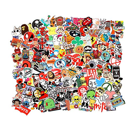 🥇 Cool Random Stickers 55-700pcs FNGEEN Laptop Stickers Bomb Vinyl Waterproof Stickers Variety Pack for Luggage Computer Skateboard Car Motorcycle Decal for Teens Adults