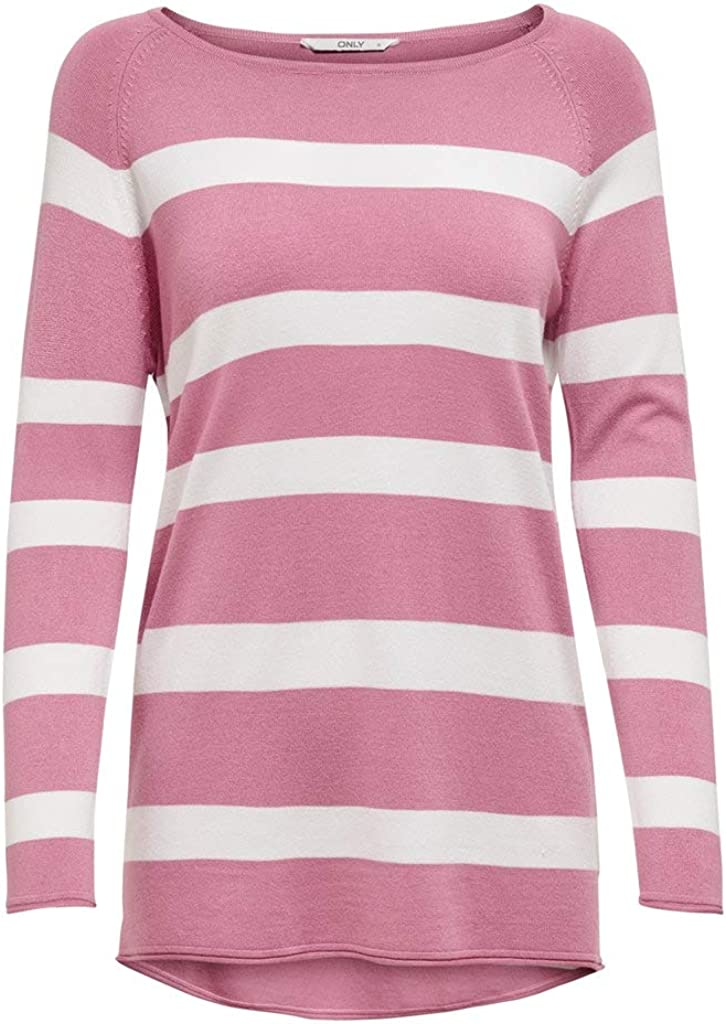 ONLY Damen Onlselena L//S Stripe Cc KNT Pullover