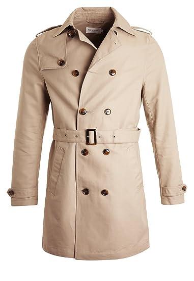 Pier One Trench coat da uomo corto in beige 712989a6301