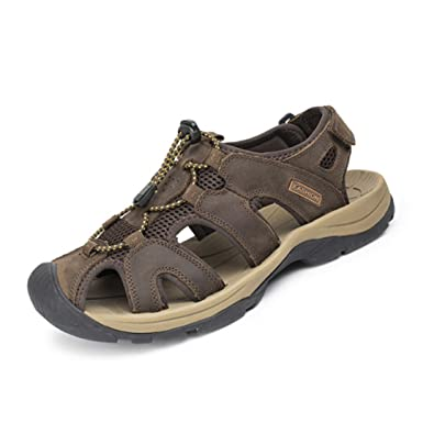 first look incredible prices recognized brands Amazon.com: Men's Sandals Leather Fashion Summer Shoes Men's ...