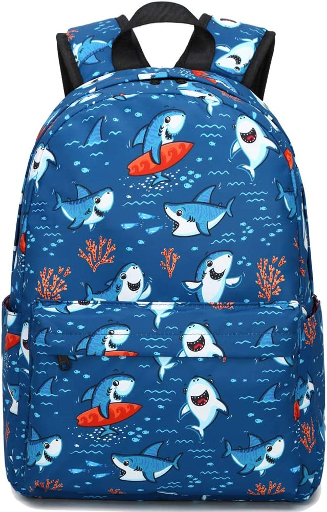 Preschool Backpack for Kids Boys Kindergarten Backpack Toddler School Bookbags (Cute Shark-Navy)