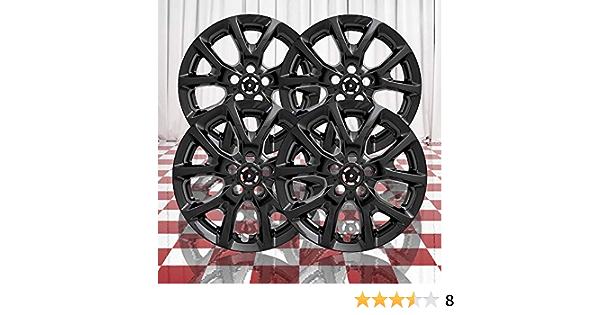 Brighter Design Set of 4 Gloss Black 10 Vent 17 Wheel Skins for 2014-2018 Jeep Cherokee