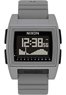Nixon Base Tide Pro Mens Durable Surf Watch with Silicone Band (42mm. Digital Face