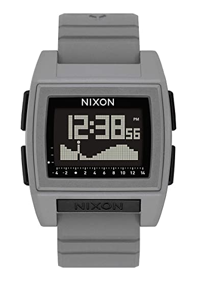 Nixon Base Tide Pro Gray Men s Durable Surf Watch with Silicone Band (42mm.  Black 01fdae54ee82