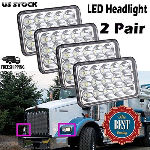 4X6 Inch Sealed Beam LED Headlights for Kenworth T800/T400/T600/W900B/W900 for sale  Delivered anywhere in USA