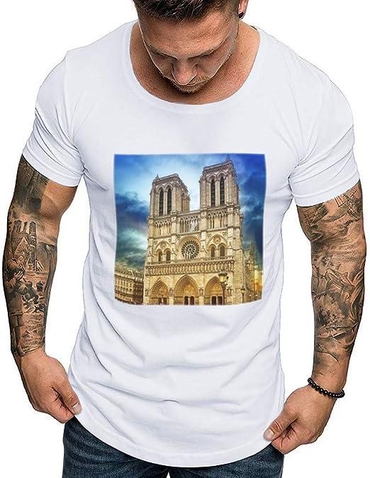 AG&T Camiseta Hombre Verano Manga Corta Camisetas ...