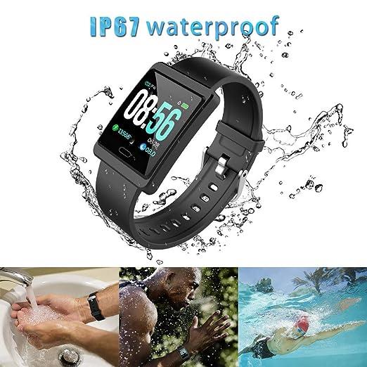 Pulsera Actividad a Color Reloj Inteligente con Pulsómetro y Presión Arterial Relojes Deportivos GPS Impermeable IP68 Monitor de Ritmo Cardíaco ...