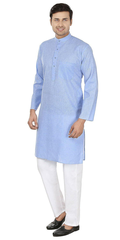 MapleClothing Vestido de algodón Tradicional para Hombre, Estilo Kurta: Amazon.es: Ropa y accesorios