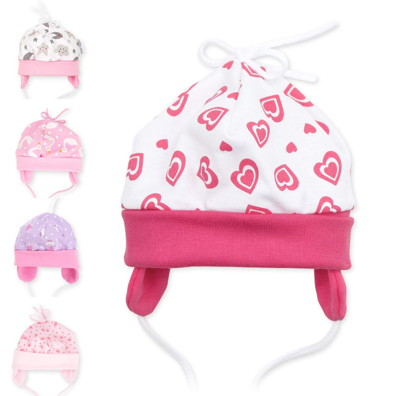 68 Baby Sweets ni/ña gorro blanco rosa Sweet Heart Talla:6 Monate