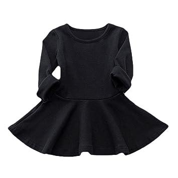 4cdce194085fe (プタス)Putars ベビー服 子供服 女の子 ワンピース ドレス 長袖 ワンカラー ベーシック シンプル 可愛い