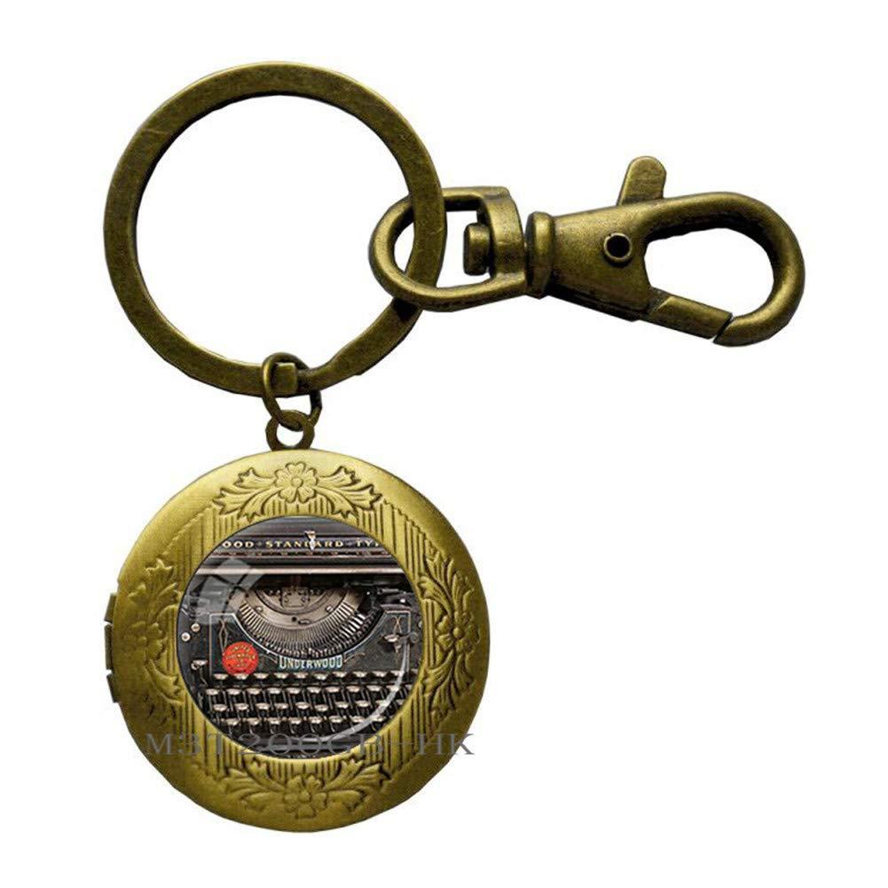 Llavero de máquina de escribir, regalo para escritor ...