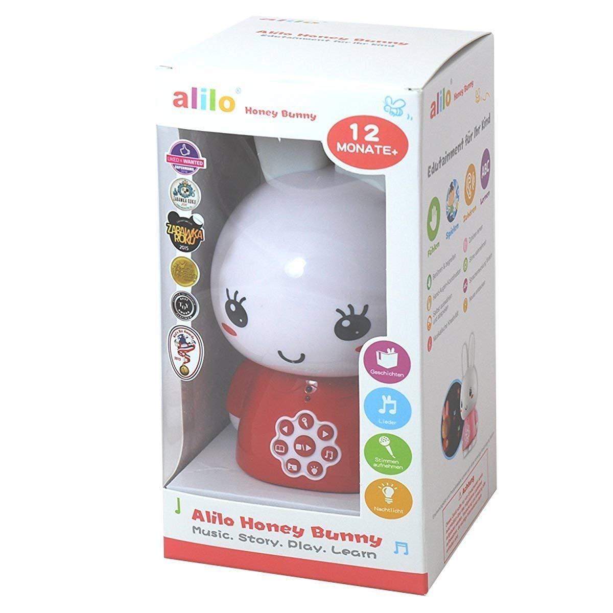 Blau Alilo Honey Bunny Edutainment f/ür Ihr Kind - Mediaplayer - inkl. ausgesuchter Geschichten und Lieder Babyspielzeug Nachtlicht Storyteller Einschlafhilfe