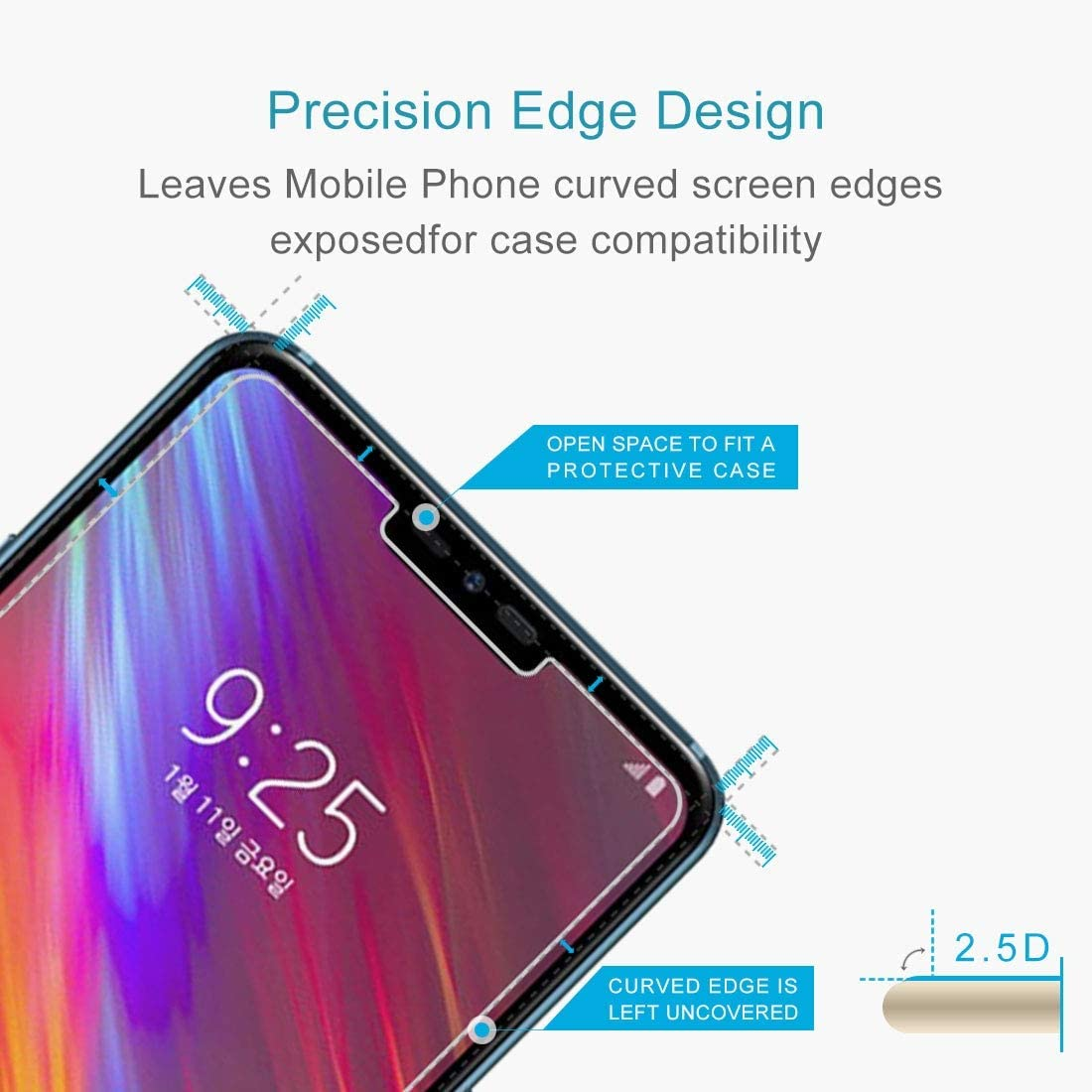100 PCS for Asus Zenfone 2 Laser YINZHI Screen Protector Film ZE550KL 0.26mm 9H Surface Hardness 2.5D Explosion-Proof Tempered Glass Screen Film Clear