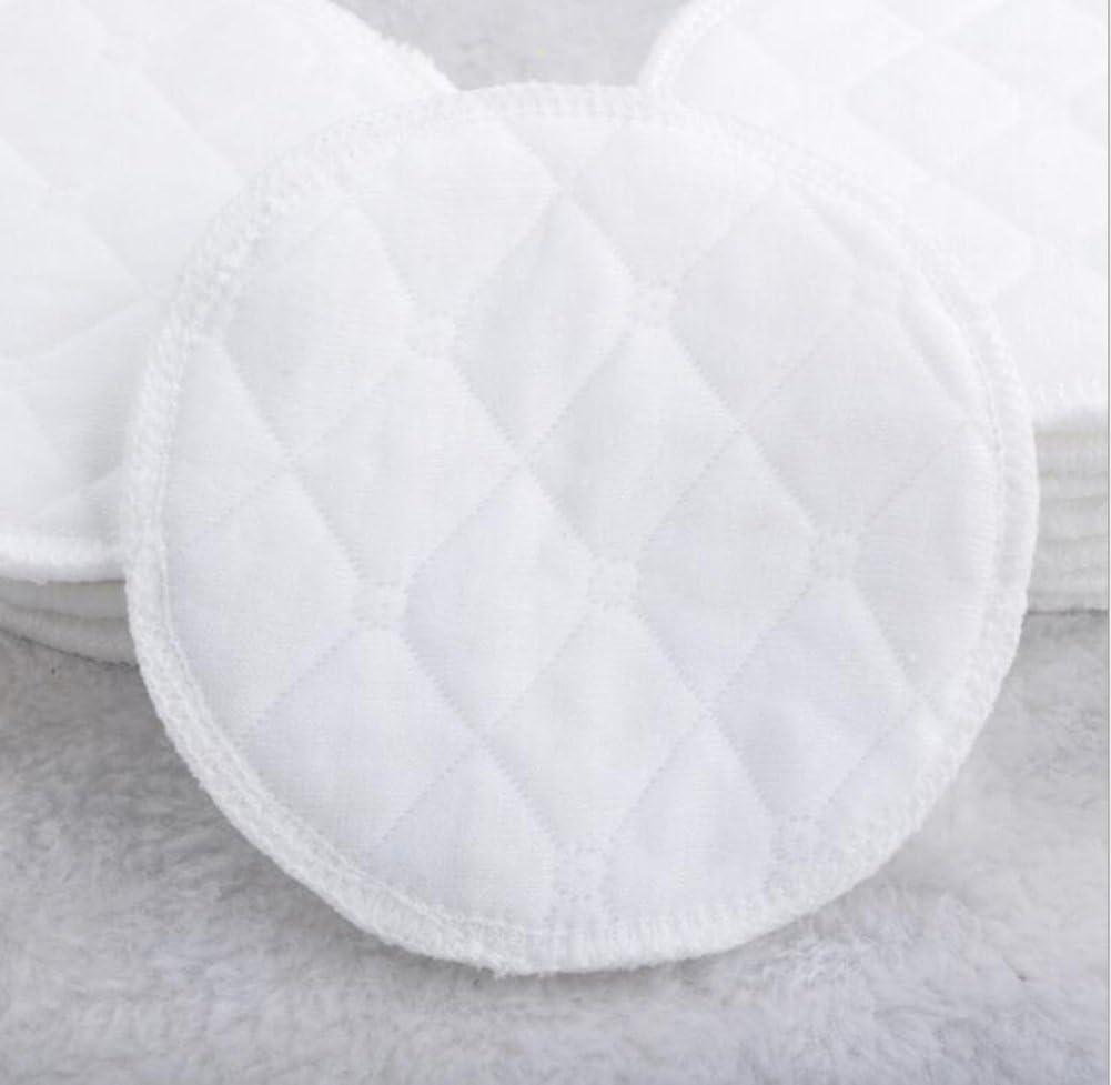 Ericotry 12/pcs Blanc doux Coton Bio Coussinets dallaitement doux et confortable doux et No-stimulation respectueux de lenvironnement lavable Coussinets dallaitement maternel