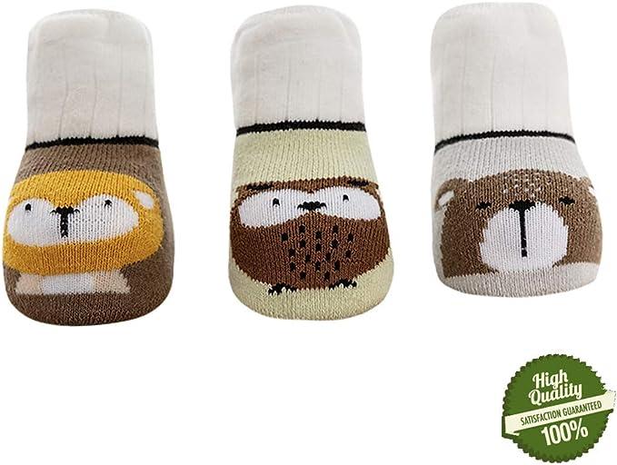 Morbuy Calcetines de Algodón Para Bebé Niños, 3 pares Lindo ...