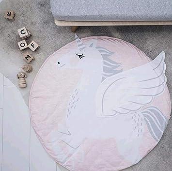 Cartoon Animals Baby Play Mats Pad Toddler Kids Crawling Blanket Round Carpet