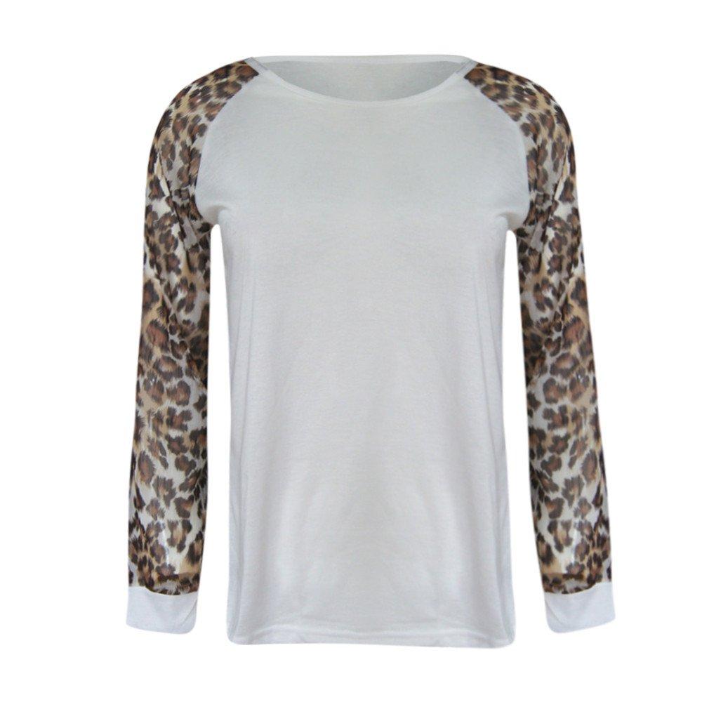 ¡Gran promoción!☆Rovinci☆ Mujeres Otoño Invierno Casual Cómoda Leopardo Blusa de Manga Larga Moda Señoras Camiseta de Gran tamaño Tops Plus Size: ...
