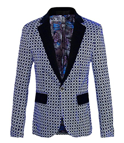 loral Wool Blazer Sport Coat Jacket US Size 32£¨Tag Asian Size M Houndstooth (Floral Wool Coat)