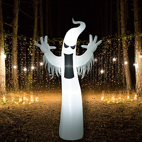 SUPERJARE Inflatable Ghost, Airblown Halloween Decoration LED Light, Indoor&Outdoor