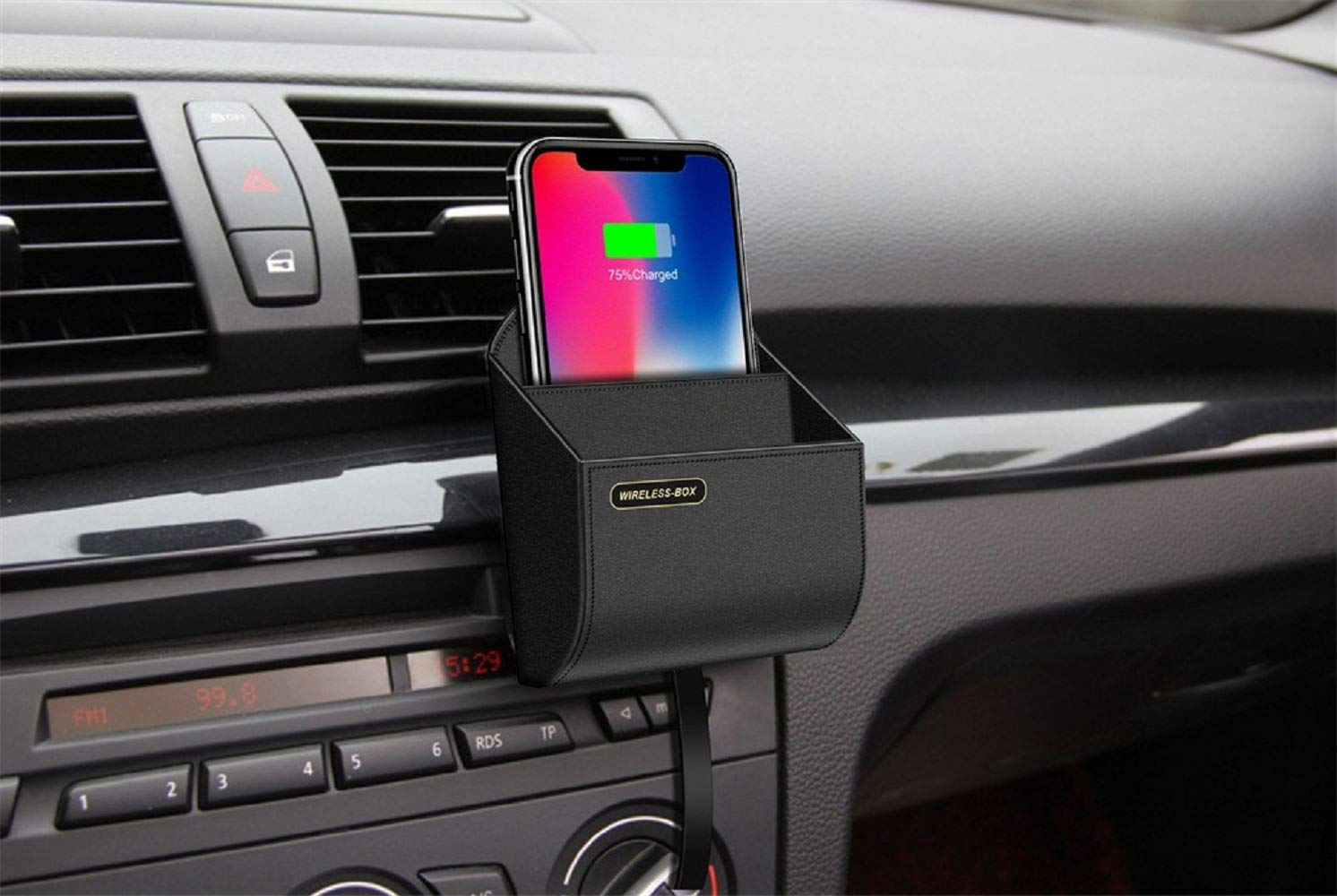 Pollyhb Wireless Charger Storage Box Car Charging Dock Station,Compatible for iPhone,Compatible Samsung by Pollyhb's Wireless Charger (Image #1)