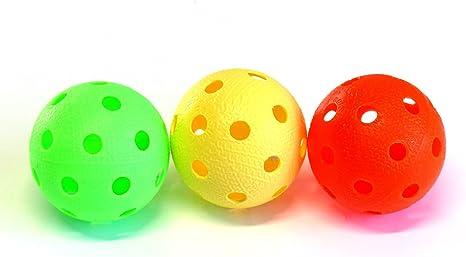 Pelotas de floorball y unihockey set de 3 | Realstick | Color Mix ...