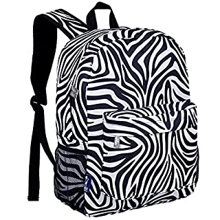 Wildkin 16 Inch Backpack, Durable Backpack with Padded Straps, Front Pocket, Moisture-Resistant Lining, and Two Mesh Side Pockets, Perfect for School or Travel – Zebra (B00HY6C31M)   Amazon Products
