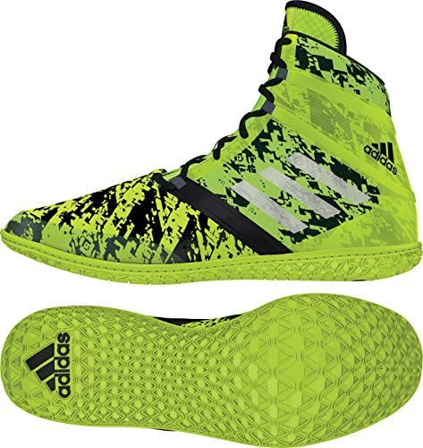 adidas Impact Wrestling Shoes - White/Back/Solar Red