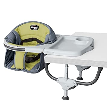 Superbe Chicco 360 Hook On High Chair  Aura, Grey/Lime