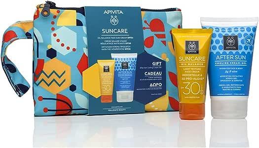 Apivita SUNCARE Pack Crema solar facial SPF30 - Oil Balance + Regalo Aftersun 100ml + Regalo Neceser: Amazon.es: Salud y cuidado personal
