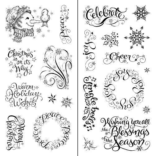 Inkadinkado Warm Holiday Wishes Clear Stamps