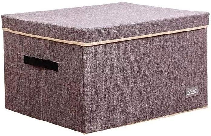 Chinashow Caja de Almacenamiento Plegable para Ropa – Caja de Almacenamiento de Tela para Guardar pequeños Calcetines o Ropa Interior (45 x 35 x 25 cm, Color Gris): Amazon.es: Hogar