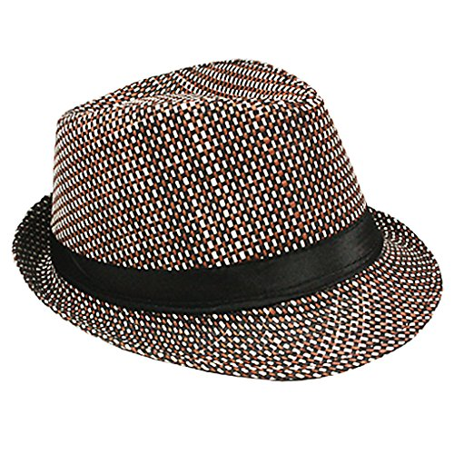 Silver Fever Thin Brimmed Woven Fedora Hat