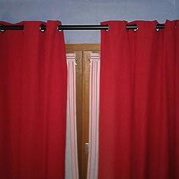 Noir 91 /à 183 cm diam/ètre 3/cm Basics Tringle /à rideaux avec embouts ronds