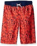 Crazy 8 Little Boys' Drawstring Swim Trunk, Orange Epic Chill Print, S