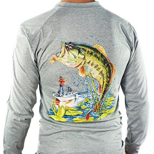 All-American Fishing Performance Dri Fit Shirt - Mens Long Sleeve X-Large Gray