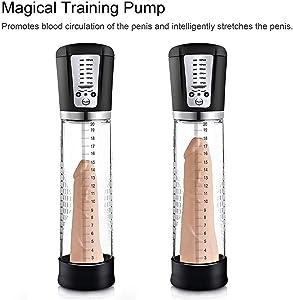 Electric Hydro Pënile Pump, Powerful Pën-îs Pǔmp for Mën Extënder to More Time with Multi Vibrǎtion Modes and Erëctile Dysfunction Mǎssage Vacuum