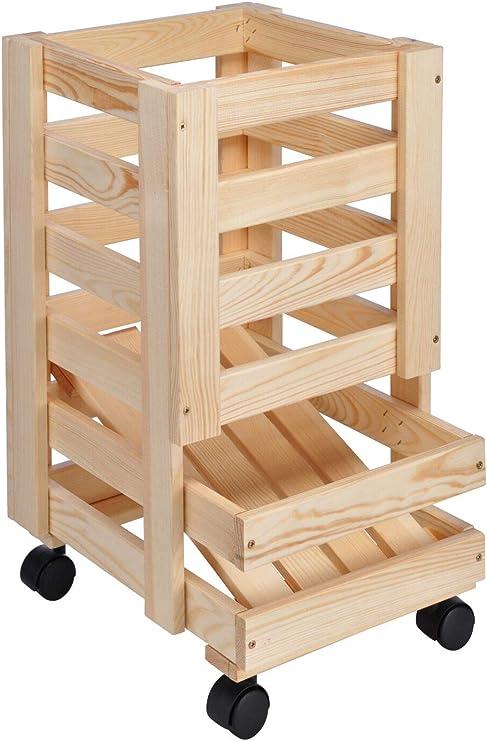 Patatas Caja fruta (Caja de madera para patatas Manzanas 30 x 37 x ...