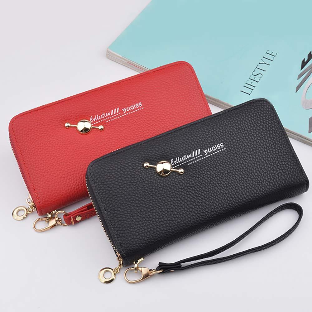 Powerfulline Stylish Fashion Women Faux Leather Multi-slot Zip Long Wallet Purses Card Holder Clutch