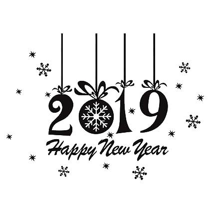 Amazon com: BESTOYARD 2019 Happy New Year Stickers Christmas