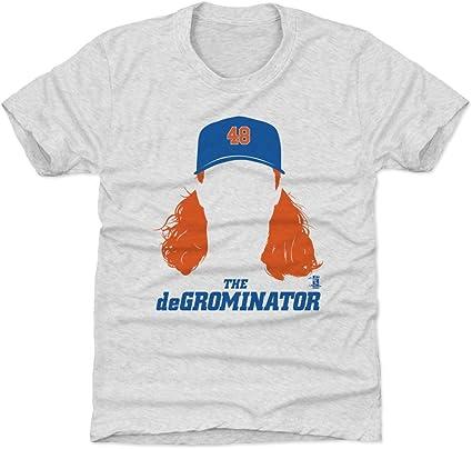 New York M Baseball Jacob deGrom Player Silhouette WHT Jacob deGrom Women/'s V-Neck T-Shirt