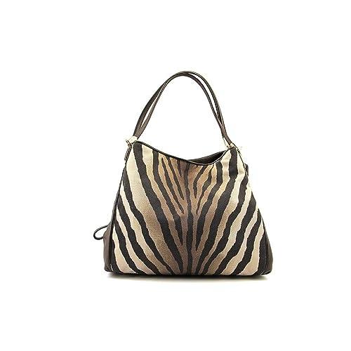 coach zebra print madison zebra print small phoebe shoulder bag rh amazon com