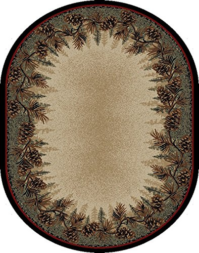 Mayberry Rugs 3823 Rustic Lodge Mount Le Conte Area Rug, 5'3
