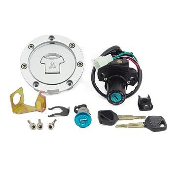 E-TING interruptor de encendido tapa de depósito de combustible Gas Juego de cerradura y llaves ...