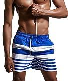 Minetom Maillot De Bain Homme Boxer Trunks Shorts Pantalon Court De Sport Plage Mer Loisir Swim Bermudas Élastique Réglable Bande Été