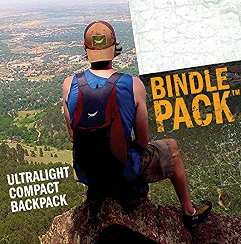 Trek Light Gear Ultralight Bindle Daypack - The Best Lightweight 14L Backpack - Made from Ultra Strong & Durable Parachute Nylon - Great for Travel, Hiking, Camping & School - Packs Down to 3.5oz Pouc