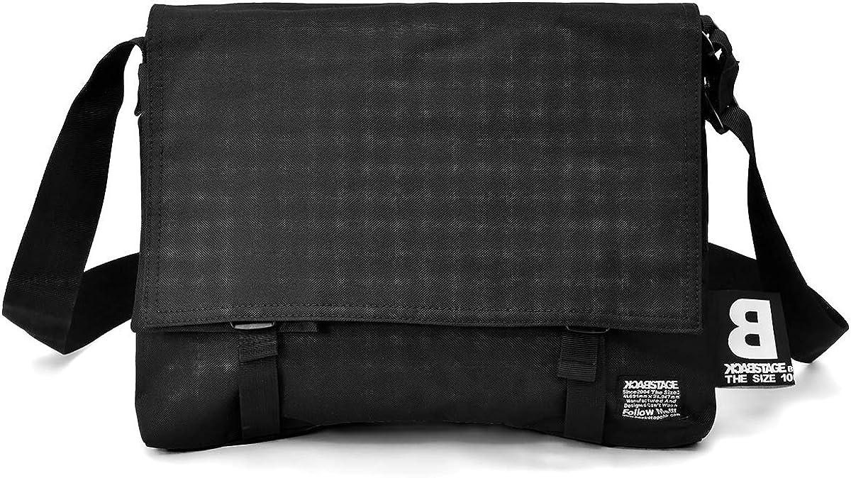 スクエア型 フラップ ショルダーバッグ [プレックス] 取り外し可能 マルチポーチ 付き PC収納 メッセンジャーバッグ