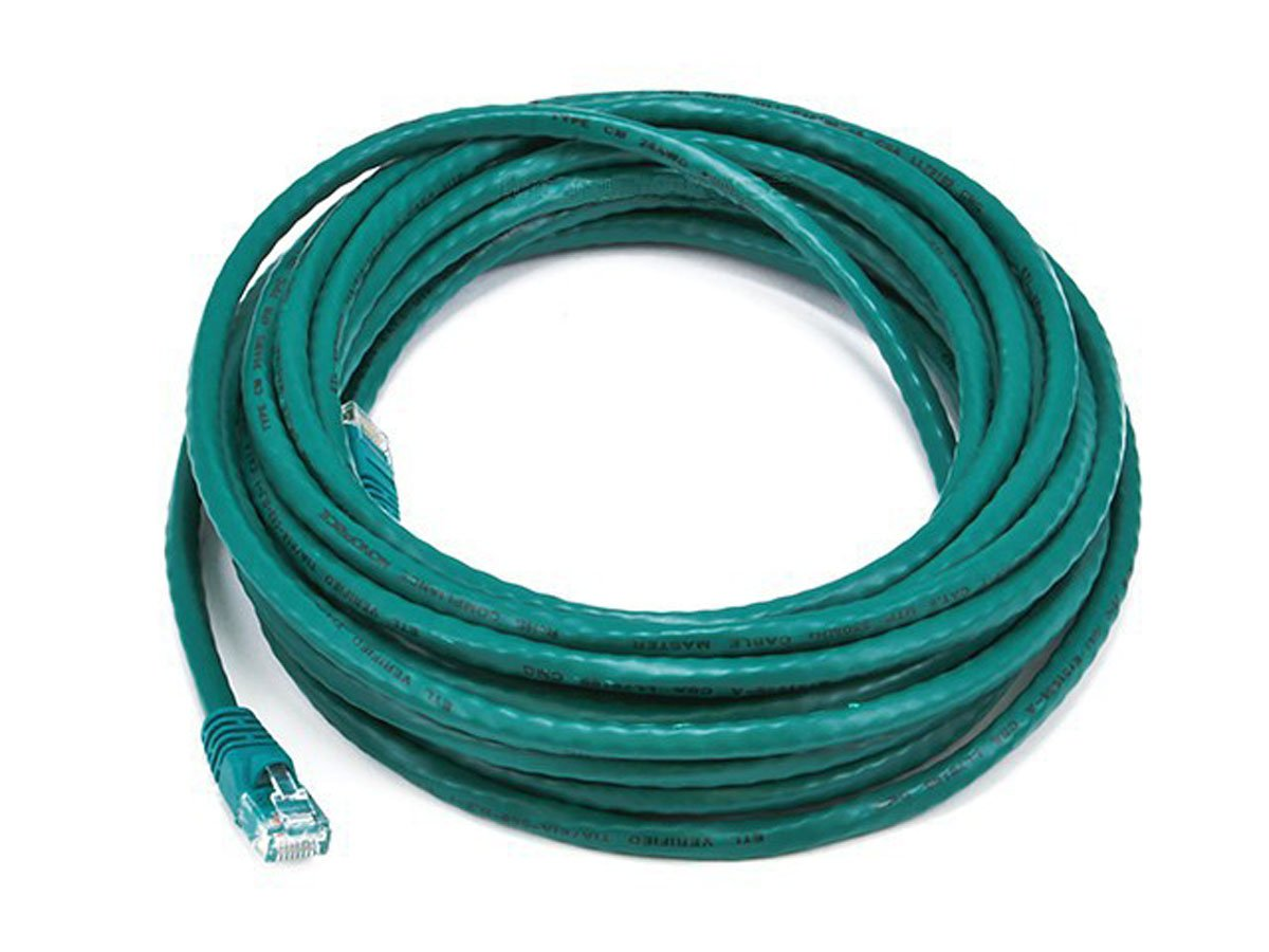 6PC Cat6 24AWG UTP Ethernet Network Patch Cable, 25ft Green