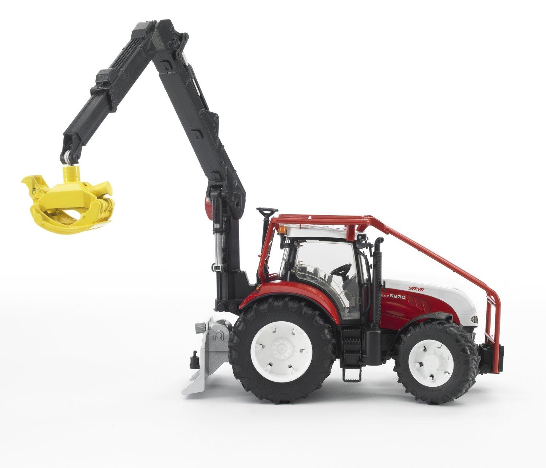 tracteur forestier steyr cvt 6230 avec remorque